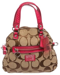 Coach Satchel in Brown and Pink