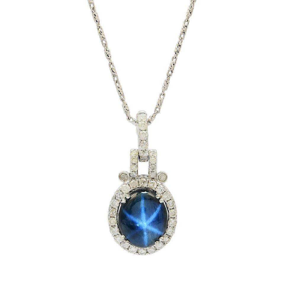 jewelry women star for silver sterling necklace ottasilver blue pendant fine