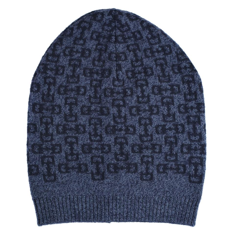 da6596865 Gucci Gray/Navy Unisex Multi-color Wool Beanie One Size Hat 35% off retail