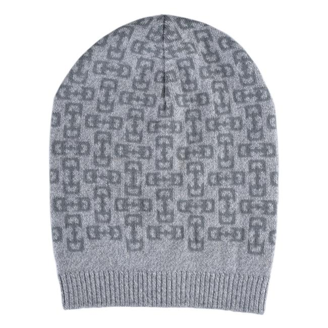 Item - Deep Gray/Light Gray Unisex Multi-color Wool Beanie One Size Hat
