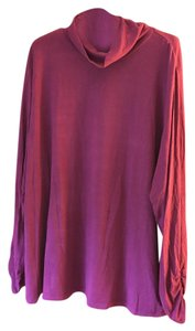 Semantiks Turtleneck Longsleeve Ruching Plus-size Tunic
