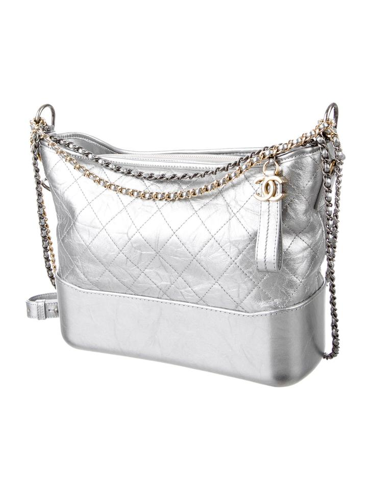 98b3462d936093 Chanel Gabrielle Bag Sold Out. Chanel Gabrielle 2017 Sold Out Medium In  Silver Metallic Calfskin Leather ...