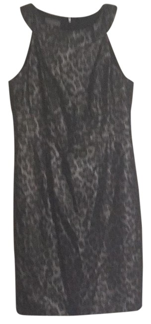 Item - Black and Silver Print Rn58142 Mid-length Night Out Dress Size 10 (M)
