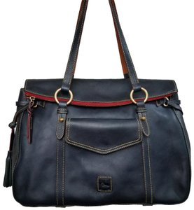 Dooney & Bourke Leather Tote in Navy Blue