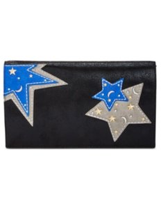 INC International Concepts Black Blue Clutch