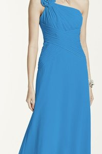 David's Bridal Cornflower Blue F14010 Dress