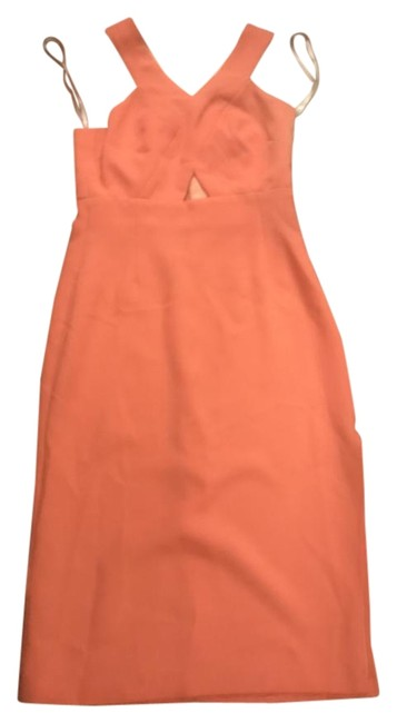 Item - Pink Womens Cut-out Midi Sleeveless 0 Mid-length Casual Maxi Dress Size 0 (XS)