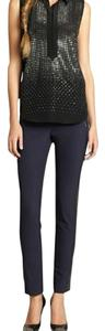 Rebecca Taylor Straight Pants Navy Blue
