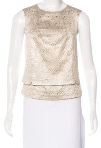 Tory Burch Top tan, ivory, champagne, gold