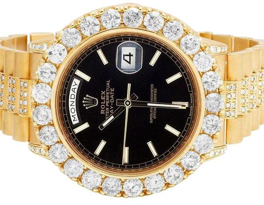 Preload https://img-static.tradesy.com/item/22339897/rolex-yellow-gold-18k-president-black-36mm-18038-day-date-diamond-12ct-watch-0-1-540-540.jpg
