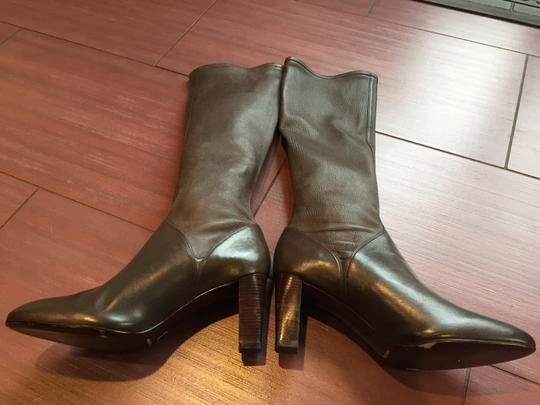 Cole Haan Leather Napa Leather Brown Boots