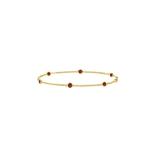 Preload https://img-static.tradesy.com/item/22339949/red-garnet-bezel-set-in-14k-yellow-gold-7-inches-060-ct-tgw-bracelet-0-0-540-540.jpg