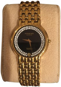 Raymond Weil RAYMOND WEIL MENS VINTAGE 18K GOLD PLATED DIAMOND QUARTZ WATCH
