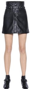 The Kooples Leather Mini Skirt Black Leather