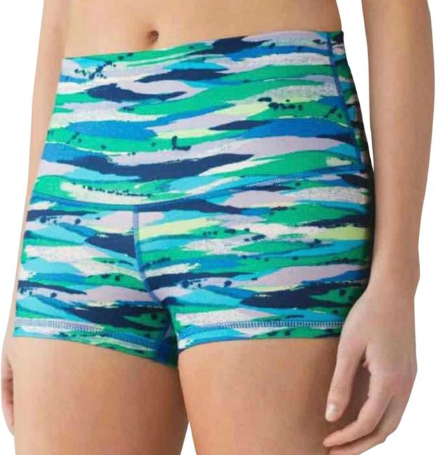 Preload https://img-static.tradesy.com/item/22340045/lululemon-blue-green-and-white-boogie-shorts-size-4-s-27-0-1-650-650.jpg