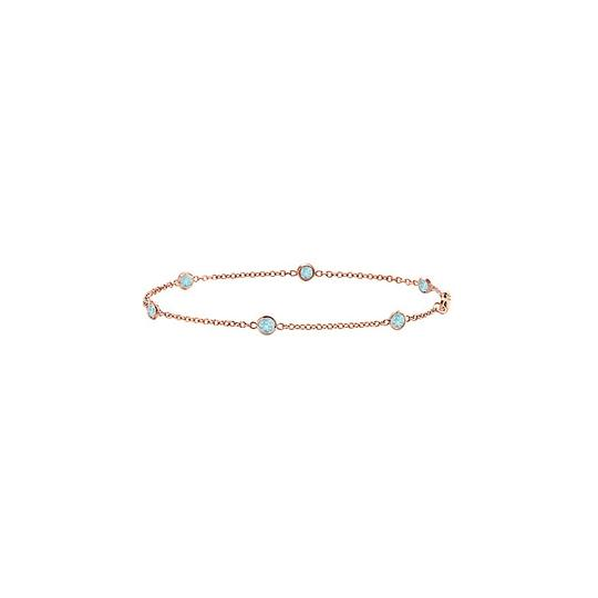 Preload https://img-static.tradesy.com/item/22340051/blue-aquamarine-bezel-set-in-14k-rose-gold-7-inches-060-ct-tgw-bracelet-0-0-540-540.jpg