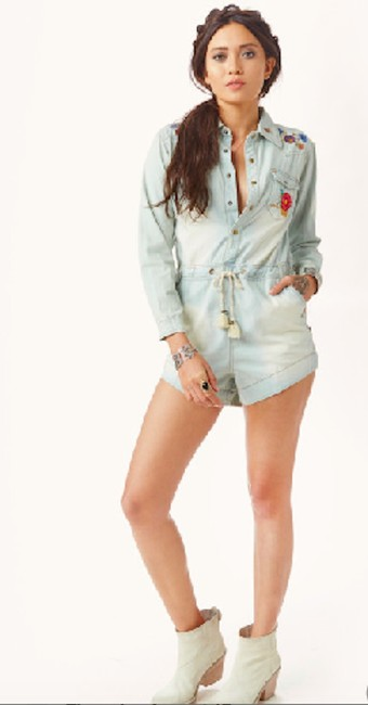 Spell & the Gypsy Collective Denim Embroidery Snaps Dress