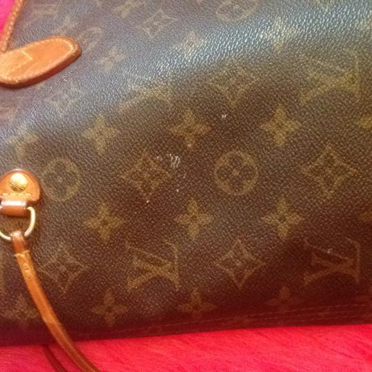 Louis Vuitton Neverfull Damier Ebene Azur Monogram Tote in Brown