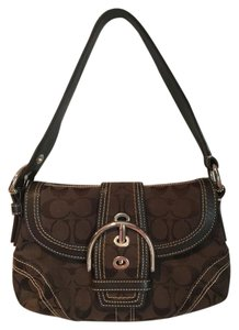 Coach Signature Logo Leather Shoulder Bag