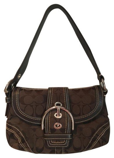 Preload https://img-static.tradesy.com/item/22340184/coach-excellent-condition-dark-brown-canvas-and-leather-shoulder-bag-0-1-540-540.jpg