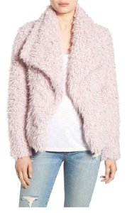 Betsey Johnson Bohemian Eclectic Faux Fur Pink Jacket
