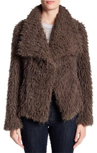 Betsey Johnson Bohemian Eclectic Faux Fur Taupe Jacket
