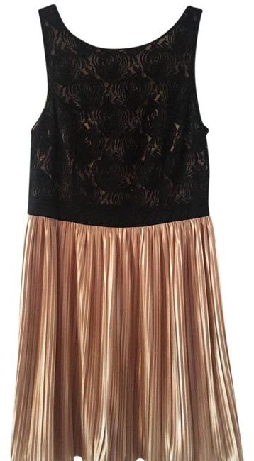Preload https://img-static.tradesy.com/item/22340380/rewind-black-and-beige-mid-length-cocktail-dress-size-16-xl-plus-0x-0-1-650-650.jpg