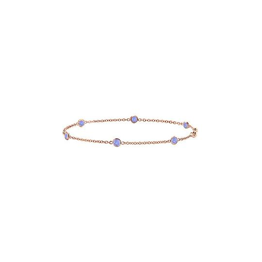 Preload https://img-static.tradesy.com/item/22340423/purple-created-tanzanite-bezel-set-in-14k-rose-gold-7-inches-060-ct-bracelet-0-0-540-540.jpg