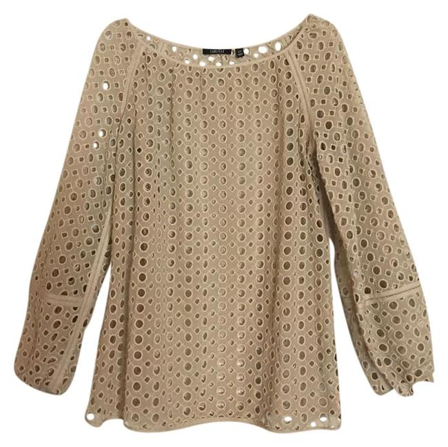 Preload https://img-static.tradesy.com/item/22340502/carlisle-tan-gold-eyelet-lace-cutout-long-sleeve-shirt-blouse-size-10-m-0-1-650-650.jpg