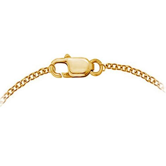 Other Synthetic White Sapphire Bracelet Bezel Set in 14K Yellow Gold 7