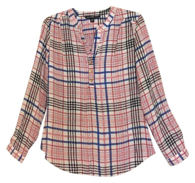 Preload https://img-static.tradesy.com/item/22340519/zac-and-rachel-blue-pink-plaid-scarf-long-sleeve-oversized-collarless-patterned-shirt-blouse-size-pe-0-1-650-650.jpg