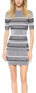 T by Alexander Wang short dress black/ grey/ white on Tradesy