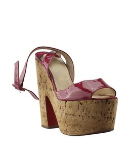 Christian Louboutin Patent Leather Heels Red Sandals