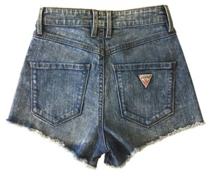 Guess Cutoff Distressed Acid Wash Denim Shorts-Acid