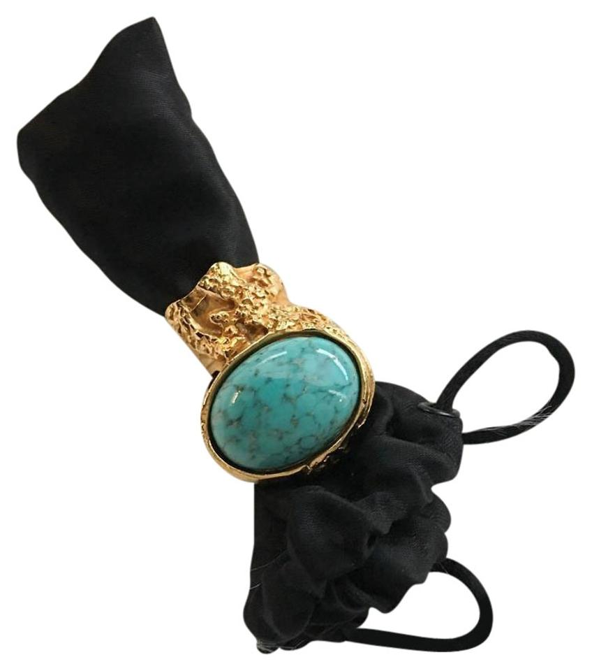 6a9b994c129a Saint Laurent Arty Turquoise Gold Ring sz 6 Image 0 ...