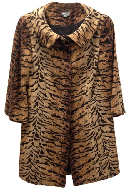 Item - Animal Print Cotton Topper Coat Size 8 (M)