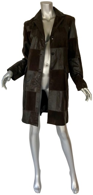 Preload https://img-static.tradesy.com/item/22340722/brown-suede-and-leaher-pea-coat-size-6-s-0-3-650-650.jpg