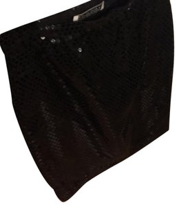 Victor Costa Skirt Black sequined