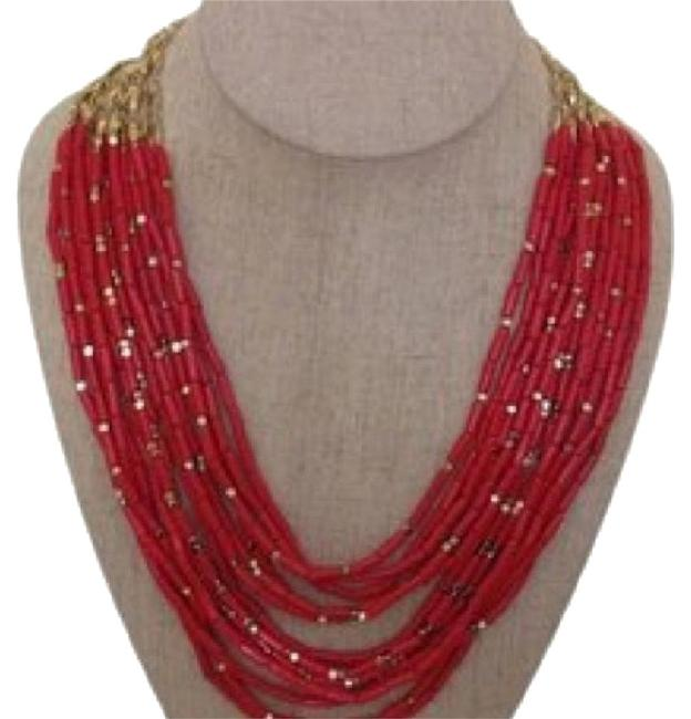 Item - Red and Gold Campari Necklace