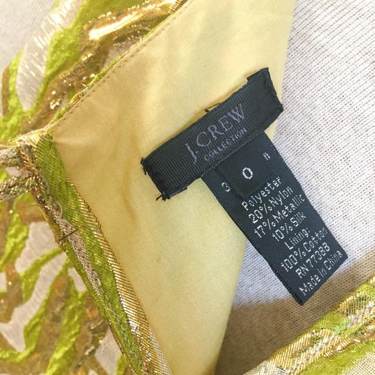 J.Crew Gold Metallic Brocade Shift Retro Bridesmaid/Mob Dress Size 0 (XS)