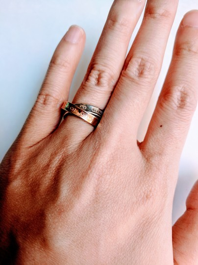 Tiffany & Co. Tiffany & co. 1837 interlocking rose gold and Sterling silver rings
