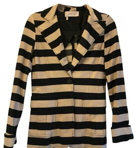 10 Crosby Derek Lam Black and Cream Blazer