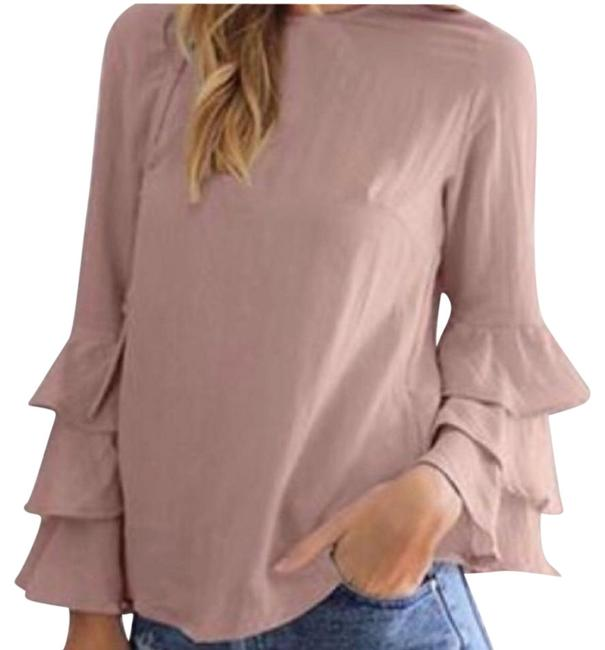 Preload https://img-static.tradesy.com/item/22340966/pink-bell-sleeve-blouse-size-12-l-0-3-650-650.jpg