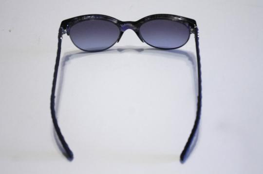 Chanel Chanel 5342 Blue Cat Eye Sunglass Fabric Arms CC 54mm