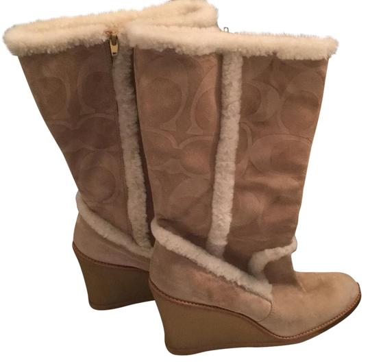 Preload https://img-static.tradesy.com/item/22341077/coach-beige-shearling-and-suede-bootsbooties-size-us-11-regular-m-b-0-1-540-540.jpg