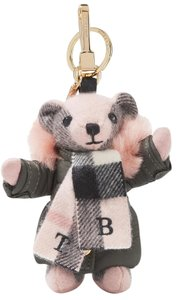 Burberry Brand New - Ships Immediately - Burberry Cashmere/Shearling Keychain