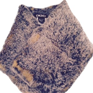DKNY Rabbit Fur Neck Scarf