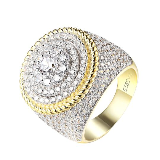 Master Of Bling Solitaire Cluster Set Ring 14k Gold 925 Silver Custom Lab Diamonds