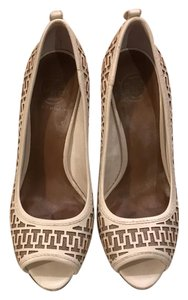 Tory Burch white Platforms