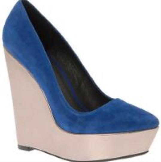 ALDO Cobalt Blue Wedges